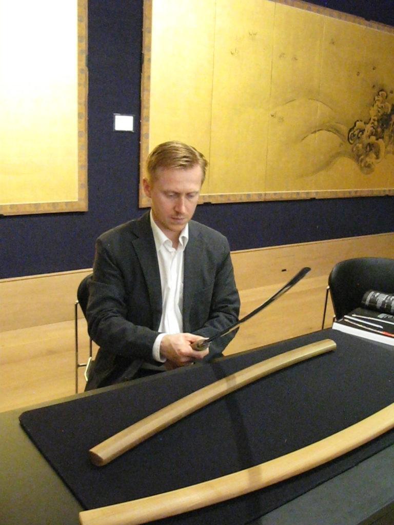 Igor holds the Japanese Swords
